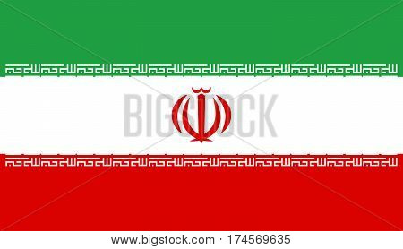 Official vector flag of Islamic Republic of Iran .