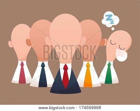 Super business team-team of super businessmen Business concept illustration.