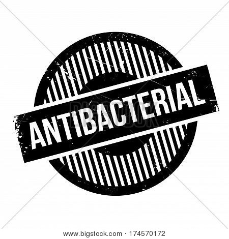 Antibacterial rubber stamp. Grunge design with dust scratches. Effects can be easily removed for a clean, crisp look. Color is easily changed.