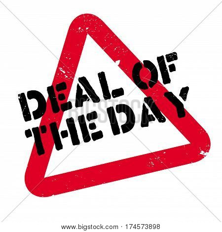 Deal Of The Day rubber stamp. Grunge design with dust scratches. Effects can be easily removed for a clean, crisp look. Color is easily changed.