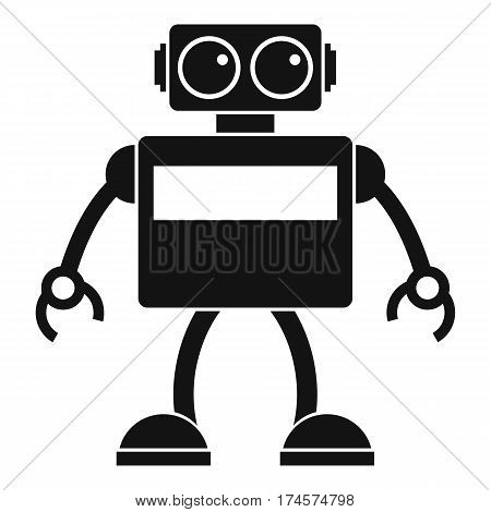Android robot icon. Simple illustration of android robot vector icon for web