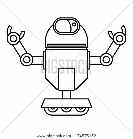Automatic mechanism icon. Outline illustration of automatic mechanism vector icon for web