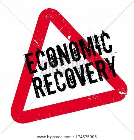Economic Recovery rubber stamp. Grunge design with dust scratches. Effects can be easily removed for a clean, crisp look. Color is easily changed.