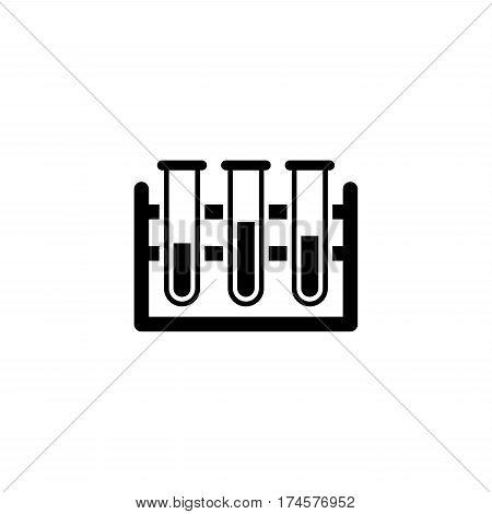 Laboratory Icon. Flat Design. Isolated Illustration Tube