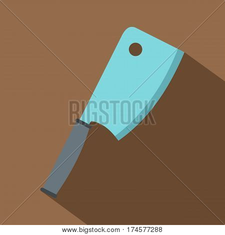 Steel meat knife icon. Flat illustration of steel meat knife vector icon for web isolated on coffee background
