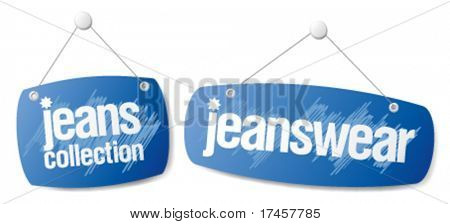 Set of signs for jeanswear collection