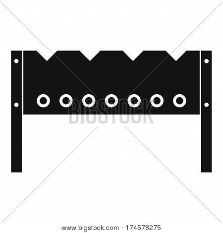 Brazier icon. Simple illustration of brazier vector icon for web
