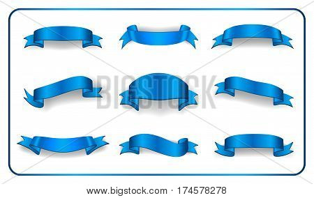 Ribbons Banners Set Satin Blank Collection