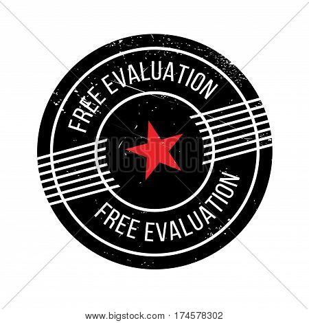 Free Evaluation rubber stamp. Grunge design with dust scratches. Effects can be easily removed for a clean, crisp look. Color is easily changed.