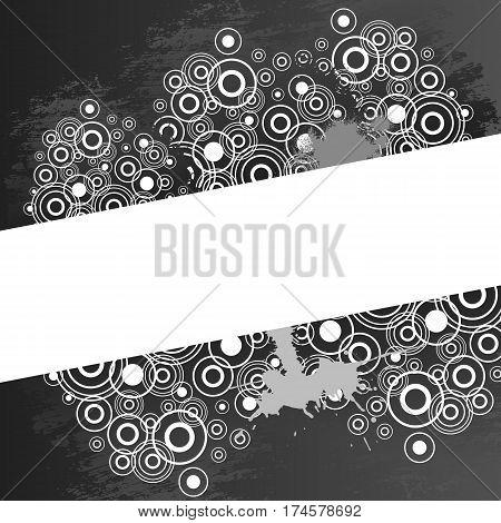 Vector halftone background design illustration. Black and white.