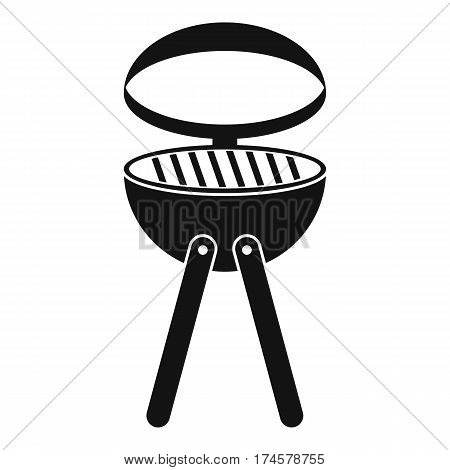 Barbecue grill icon. Simple illustration of barbecue grill vector icon for web