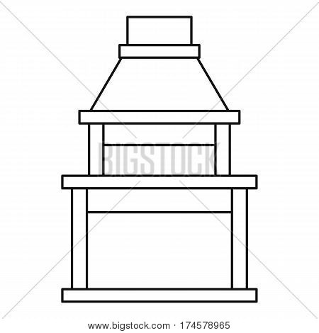Big barbecue grill icon. Outline illustration of big barbecue grill vector icon for web