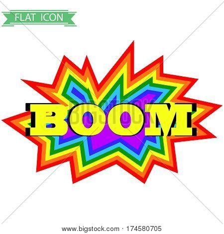Comic explosion. Flat design, vector illustration, vector.