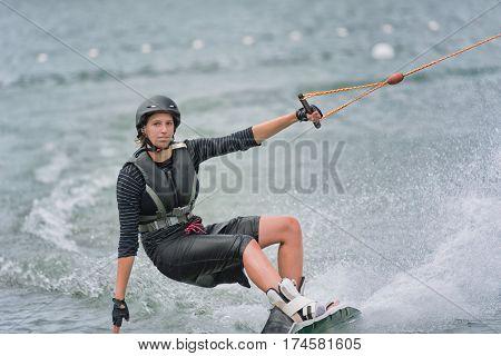 Cool Girl Wakeboarding