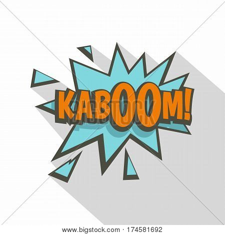 Kaboom, comic text sound effect icon. Flat illustration of Kaboom, comic text sound effect vector icon for web isolated on white background