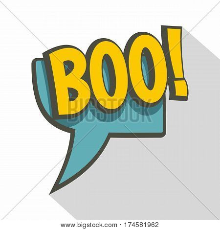 BOO, speech bubble icon. Flat illustration of BOO, speech bubble vector icon for web isolated on white background