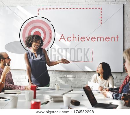 Business Achievement Goal Mission Plan Strategy Icon Symbol