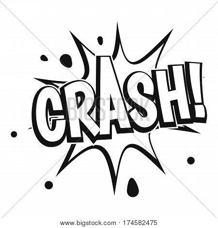 Crash explosion icon. Simple illustration of crash explosion vector icon for web