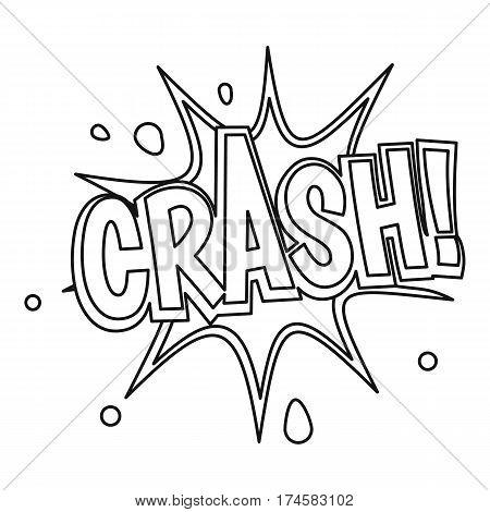Crash, explosion bubble icon. Outline illustration of crash, explosion bubble vector icon for web