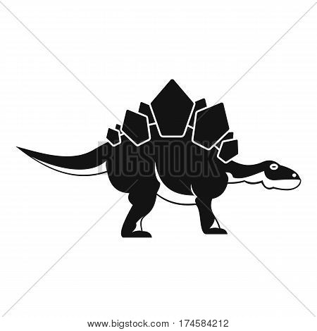 Stegosaurus dinosaur icon. Simple illustration of stegosaurus dinosaur vector icon for web