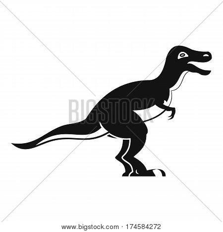 Theropod dinosaur icon. Simple illustration of theropod dinosaur vector icon for web