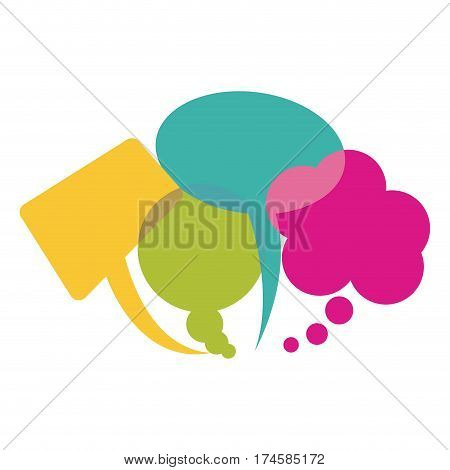 colorful collection speech bubbles and dialog balloons vector illustration