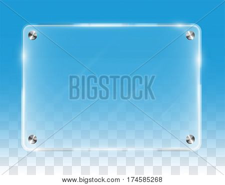 a  real  transparent shining wall acrylic board