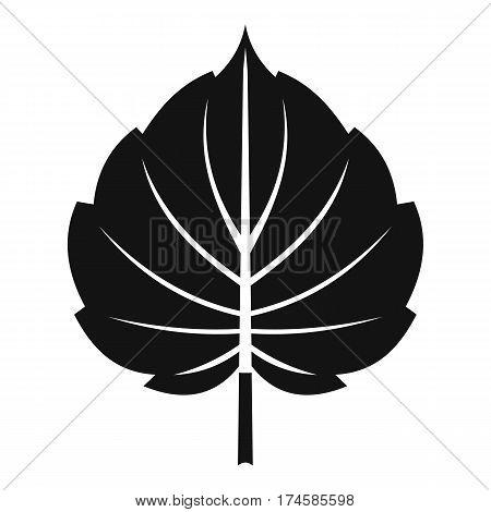 Alder leaf icon. Simple illustration of alder leaf vector icon for web