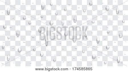 a real transparent water drop background vector