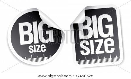 big size clothing stickers set