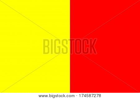Flag of Orleans is a city in north-central France it is the capital of the Loiret department and of the Centre-Val de Loire region. VEctor illustration