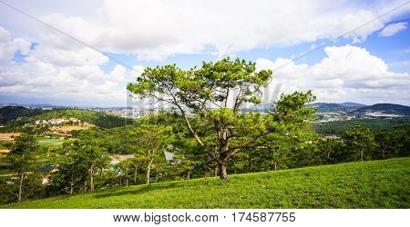 Mountain Scenery At The Sunny Day