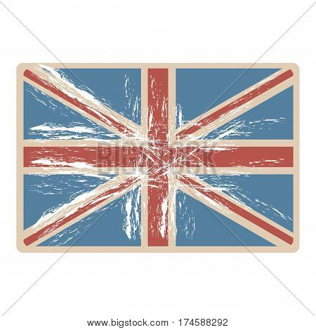 flag united kingdom with opaque grunge texture vector illustration