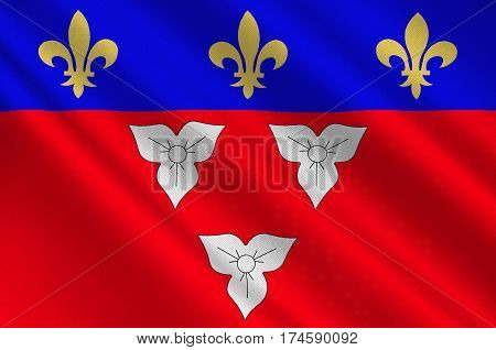Flag of Orleans is a city in north-central France it is the capital of the Loiret department and of the Centre-Val de Loire region. 3d illustration