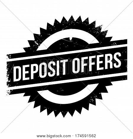 Deposit Offers rubber stamp. Grunge design with dust scratches. Effects can be easily removed for a clean, crisp look. Color is easily changed.