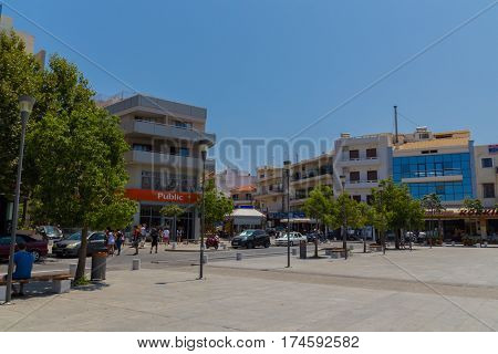Rethymno, Greece - August  1, 2016:  The Square Of The Unknown Soldier.