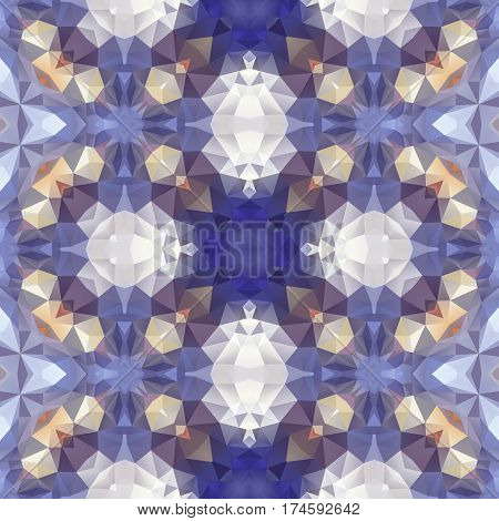 mosaic kaleidoscope seamless pattern texture background - cold light blue colored