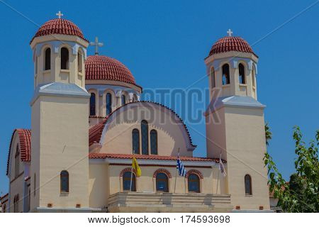 Rethymno, Greece - August  1, 2016: Four Martyrs Church.