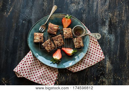 European Desset With Fresh Strawberry