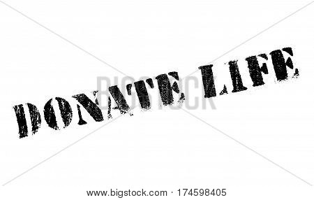 Donate Life rubber stamp. Grunge design with dust scratches. Effects can be easily removed for a clean, crisp look. Color is easily changed.