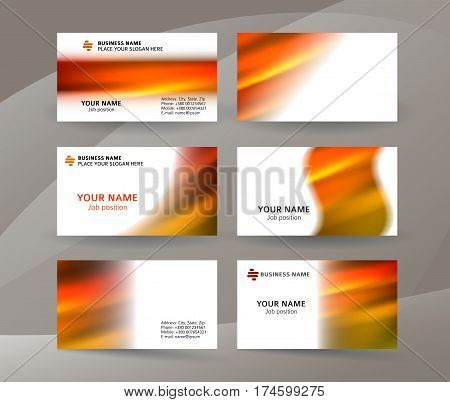Business Card Layout Template Set23