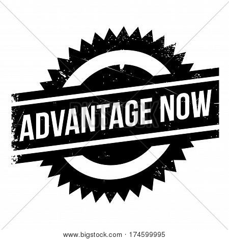 Advantage Now rubber stamp. Grunge design with dust scratches. Effects can be easily removed for a clean, crisp look. Color is easily changed.