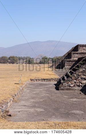 Teotihuacan Citadel ruins and Moon Pyramid, Mexico