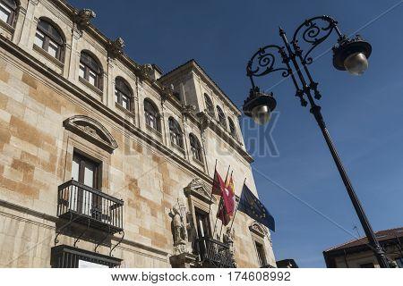 Leon (Castilla y Leon Spain): historic Palace of Guzmanes built in 16th century (Renaissance)