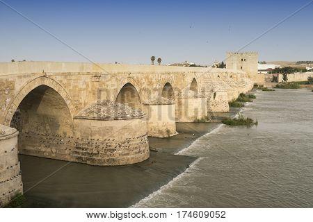 Cordoba (Andalucia Spain): Roman bridge over the Guadalquivir river