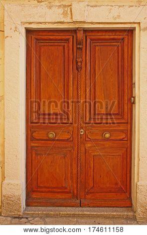 Old French doors. Str. Arceaux 11 Antibes Cote d'Azur France. June 26 2016