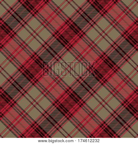 Tartan Seamless Pattern Background. Red Black and Gold Plaid Tartan Flannel Shirt Patterns. Trendy Tiles Vector Illustration for Wallpapers.