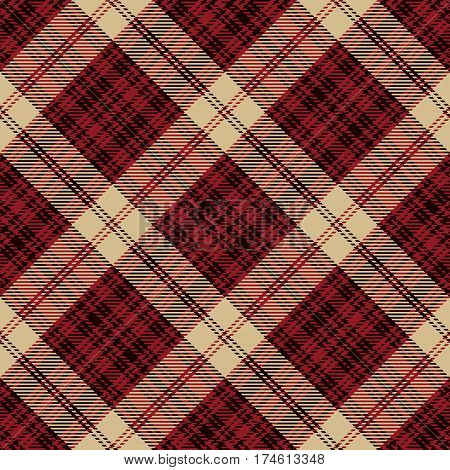 Tartan Seamless Pattern Background. Beige Black and Red Plaid Tartan Flannel Shirt Patterns. Trendy Tiles Vector Illustration for Wallpapers