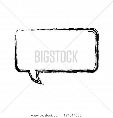 blurred silhouette rectangle dialog box icon vector illustration