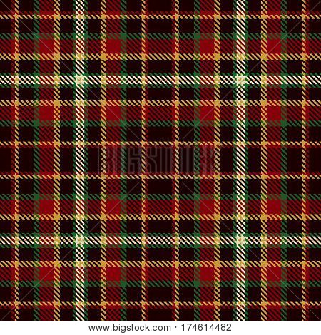 Tartan Seamless Pattern Background. Red Black Gold Green and White Plaid Tartan Flannel Shirt Patterns. Trendy Tiles Vector Illustration for Wallpapers.